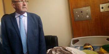 Kalale in hospital
