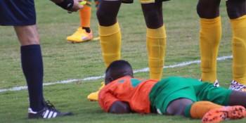 Patson falls against Guinea Bissau